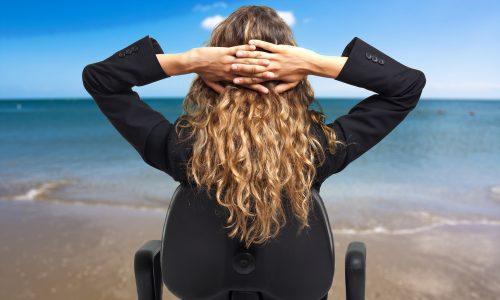 Stress op vakantie, stress, vakantie, zee, relaxen