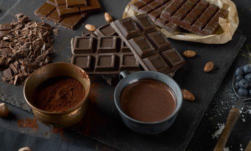 Chocolade, puur, repen, cacao.