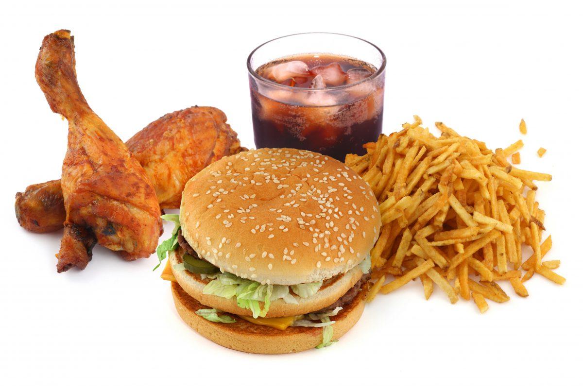 Fastfood, fat, cola, burger, fries