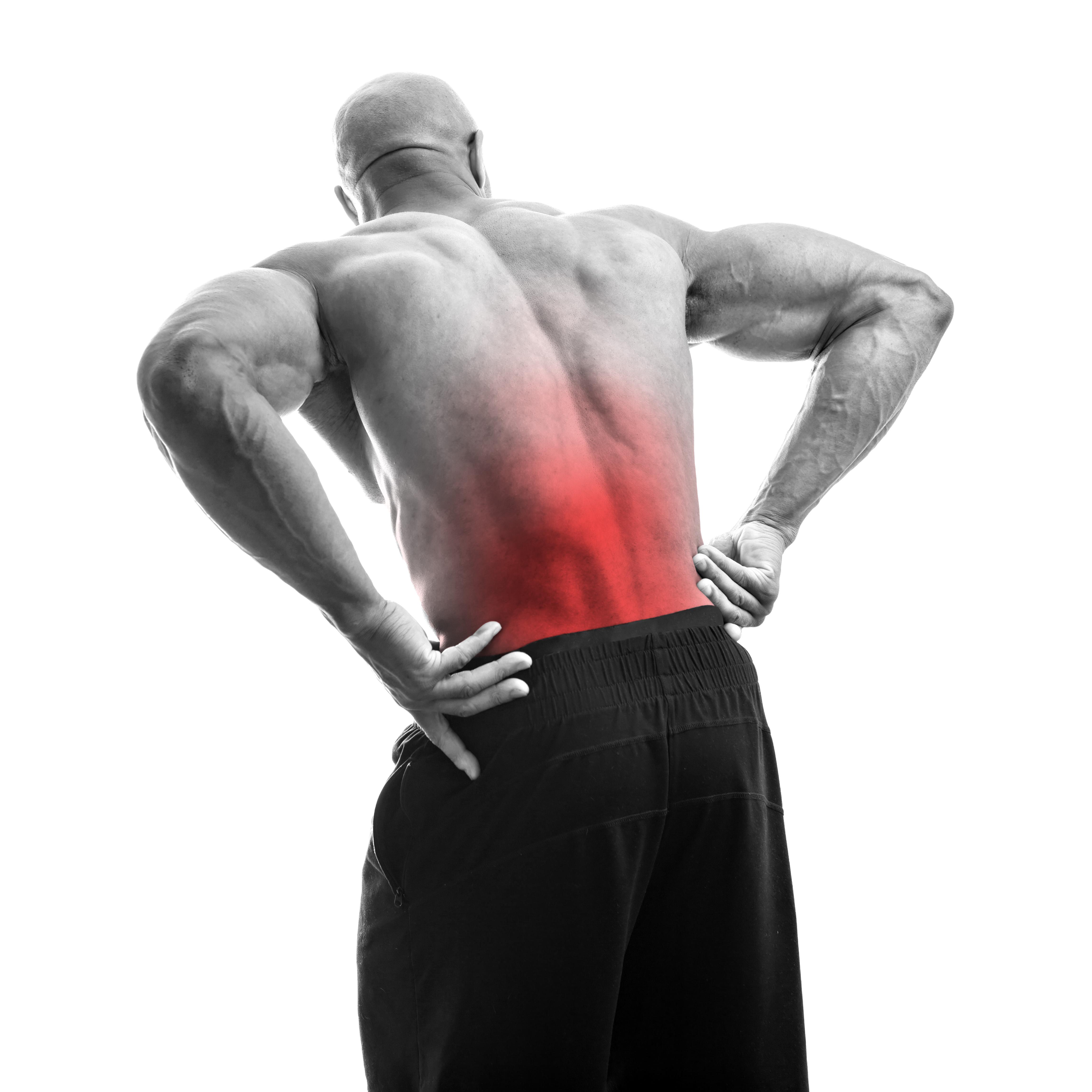 Pijn in de onderrug of gehele rug.
